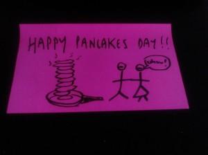 Bilhetinho de Pancake Day